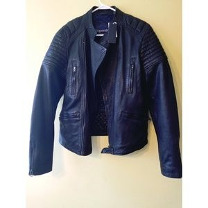 Superdry authentic racer leather Jacket